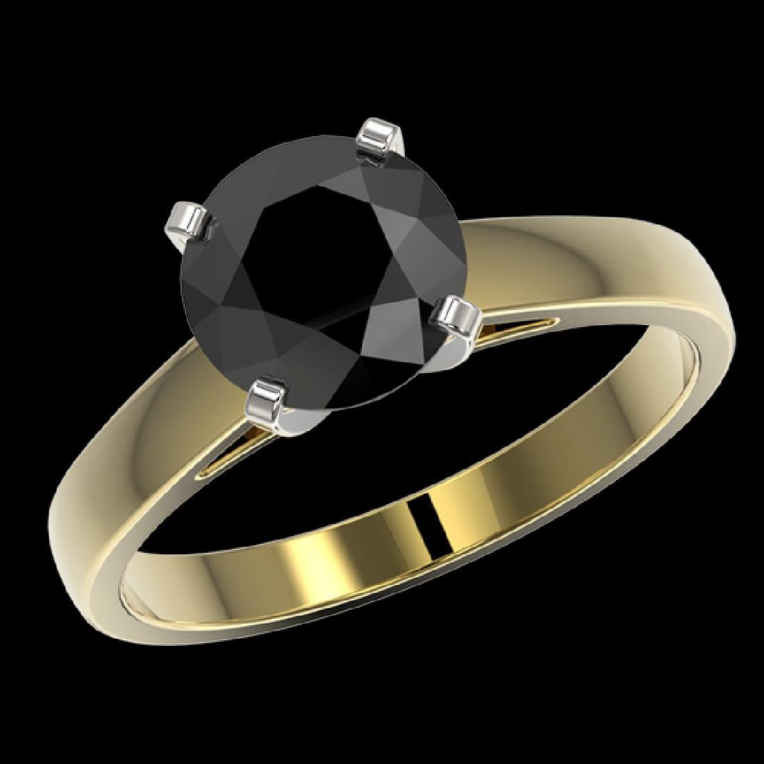2.15 CTW Fancy Black VS Diamond Solitaire Engagement - 2