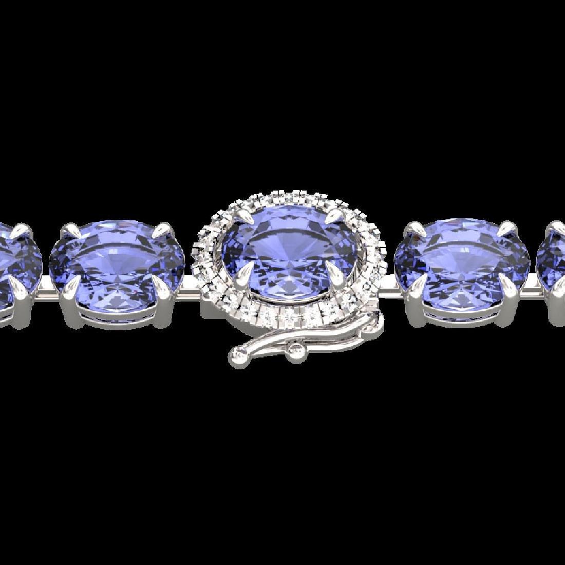 19.25 CTW Tanzanite & VS/SI Diamond Eternity Micro Halo