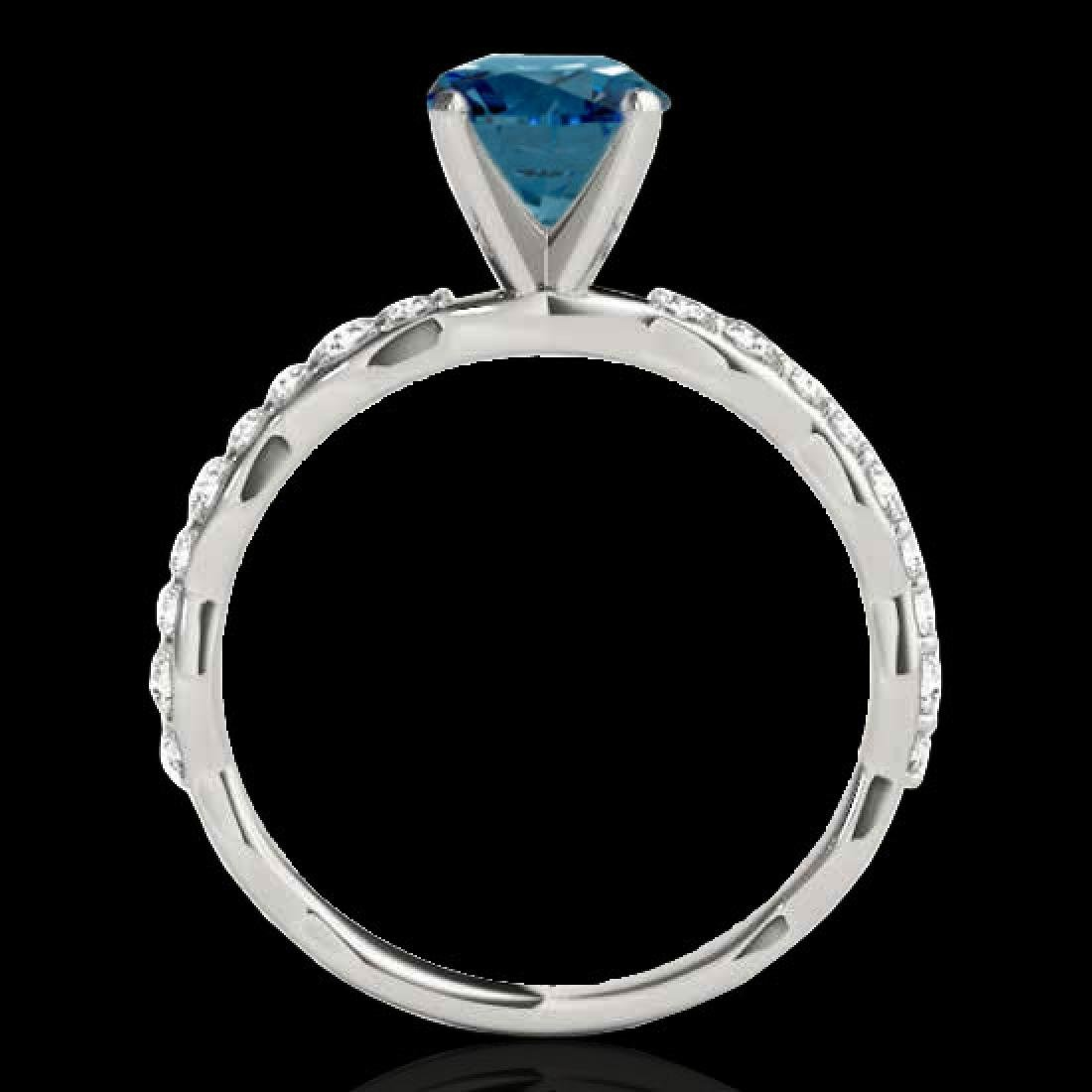 1.4 CTW SI Certified Fancy Blue Diamond Solitaire Ring - 2