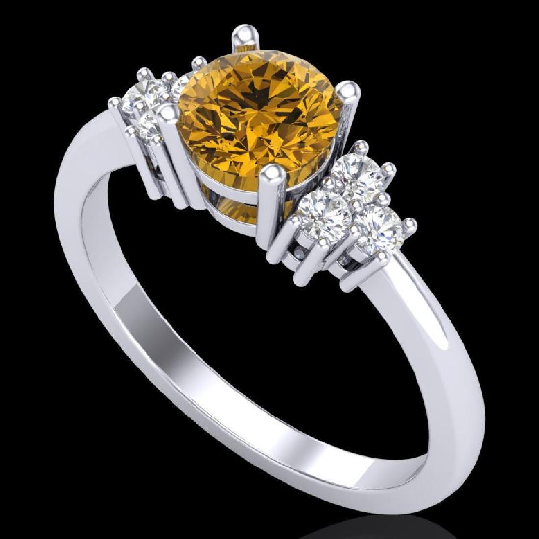 1 CTW Intense Yellow Diamond Solitaire Engagement