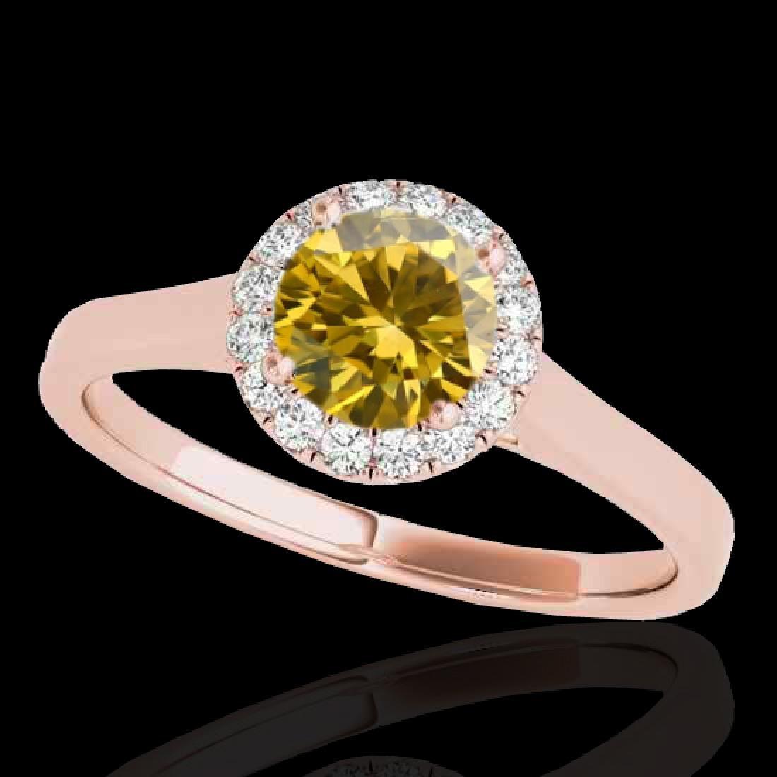 1.11 CTW Certified SI/I Fancy Intense Yellow Diamond