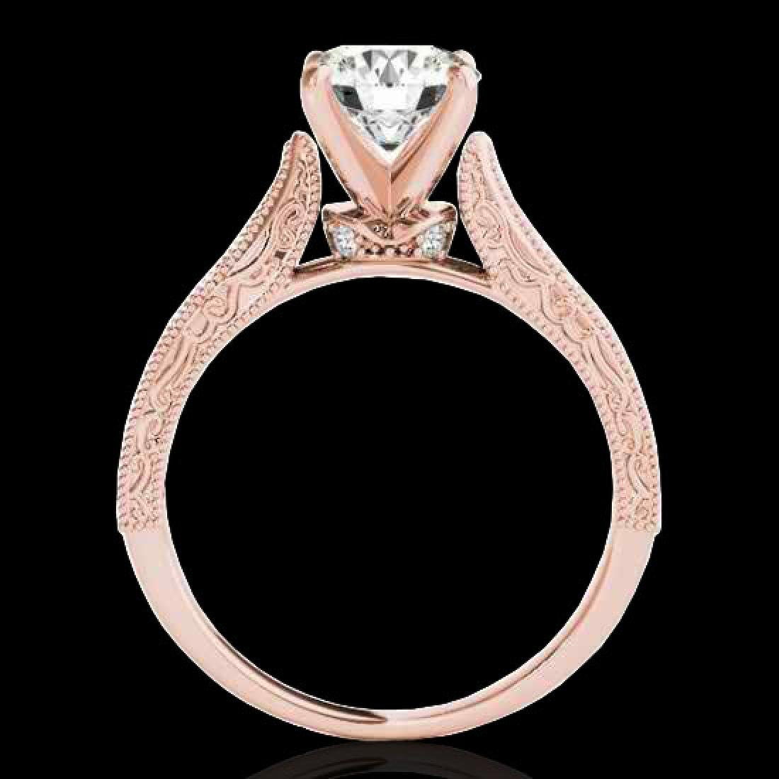 1.21 CTW H-SI/I Certified Diamond Solitaire Antique - 2