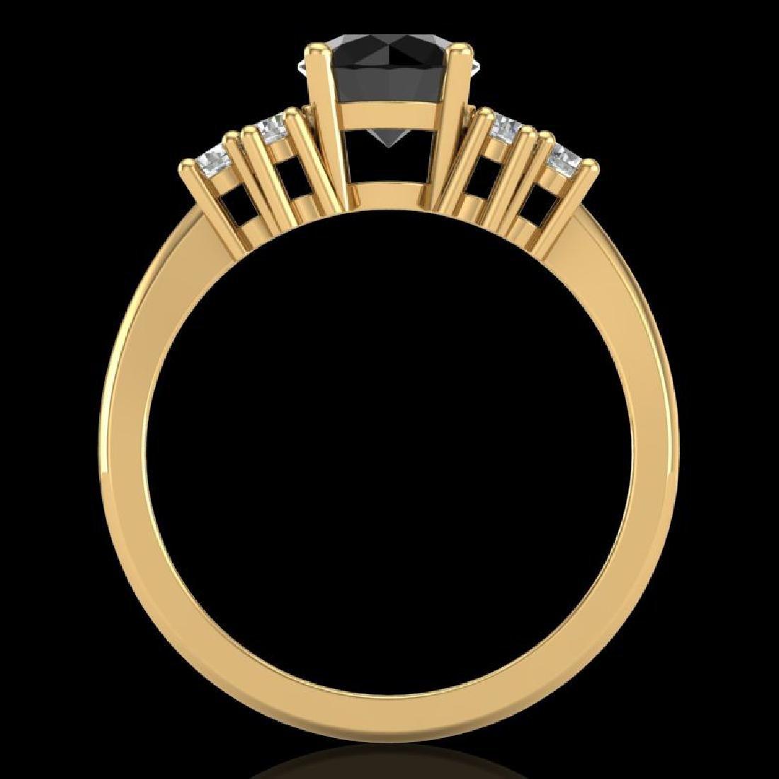 1.5 CTW Fancy Black Diamond Solitaire Engagement - 3