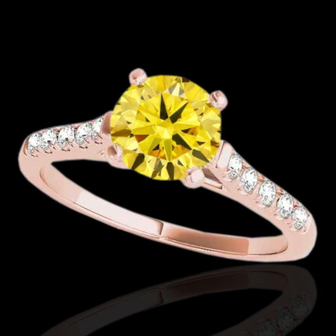 1.2 CTW Certified SI/I Fancy Intense Yellow Diamond