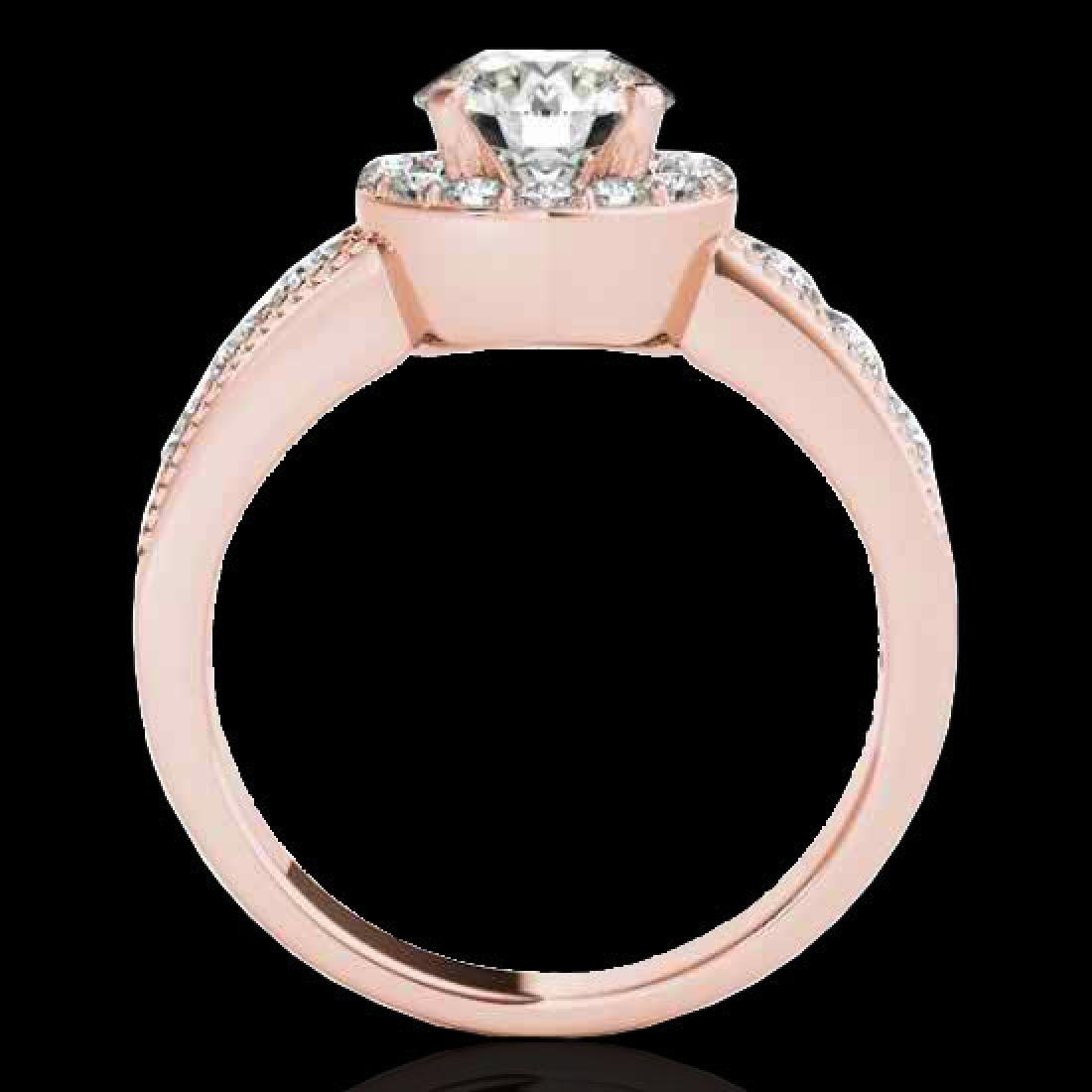 2.1 CTW H-SI/I Certified Diamond Solitaire Halo Ring - 2