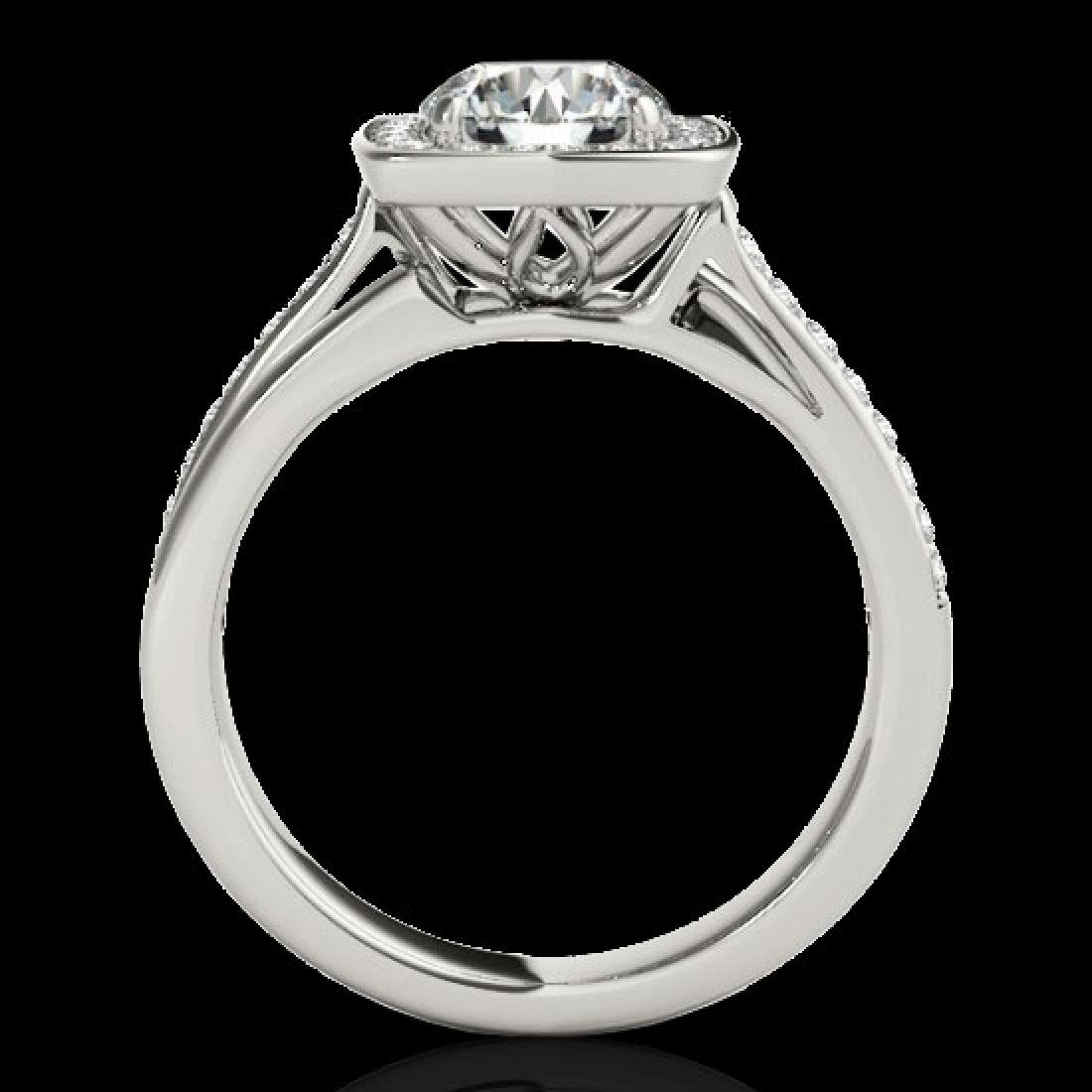1.33 CTW H-SI/I Certified Diamond Solitaire Halo Ring - 2