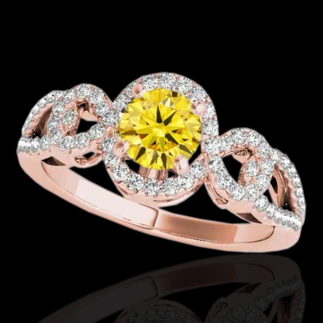 1.38 CTW Certified SI/I Fancy Intense Yellow Diamond