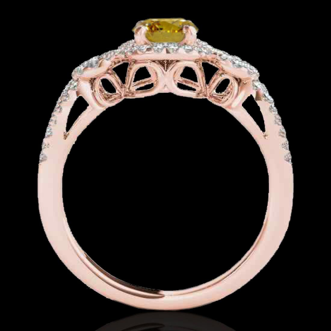 1.38 CTW Certified SI/I Fancy Intense Yellow Diamond - 2