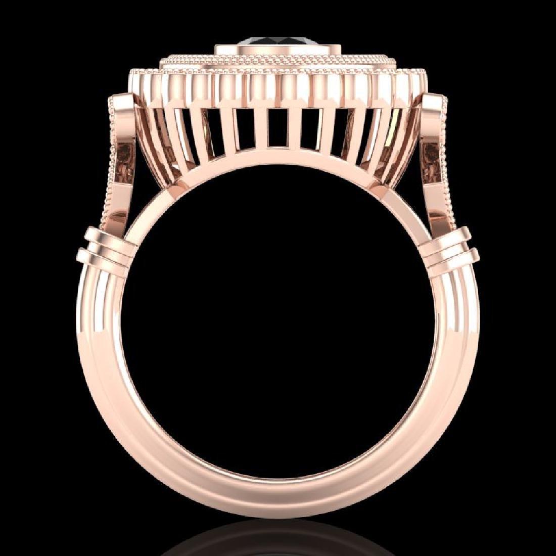 2.03 CTW Fancy Black Diamond Solitaire Engagement Art - 3