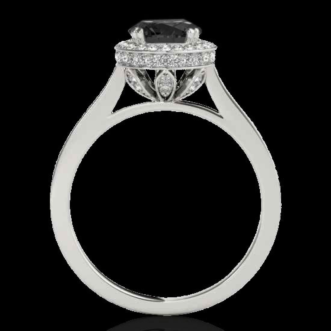2.03 CTW Certified VS Black Diamond Solitaire Halo Ring - 2