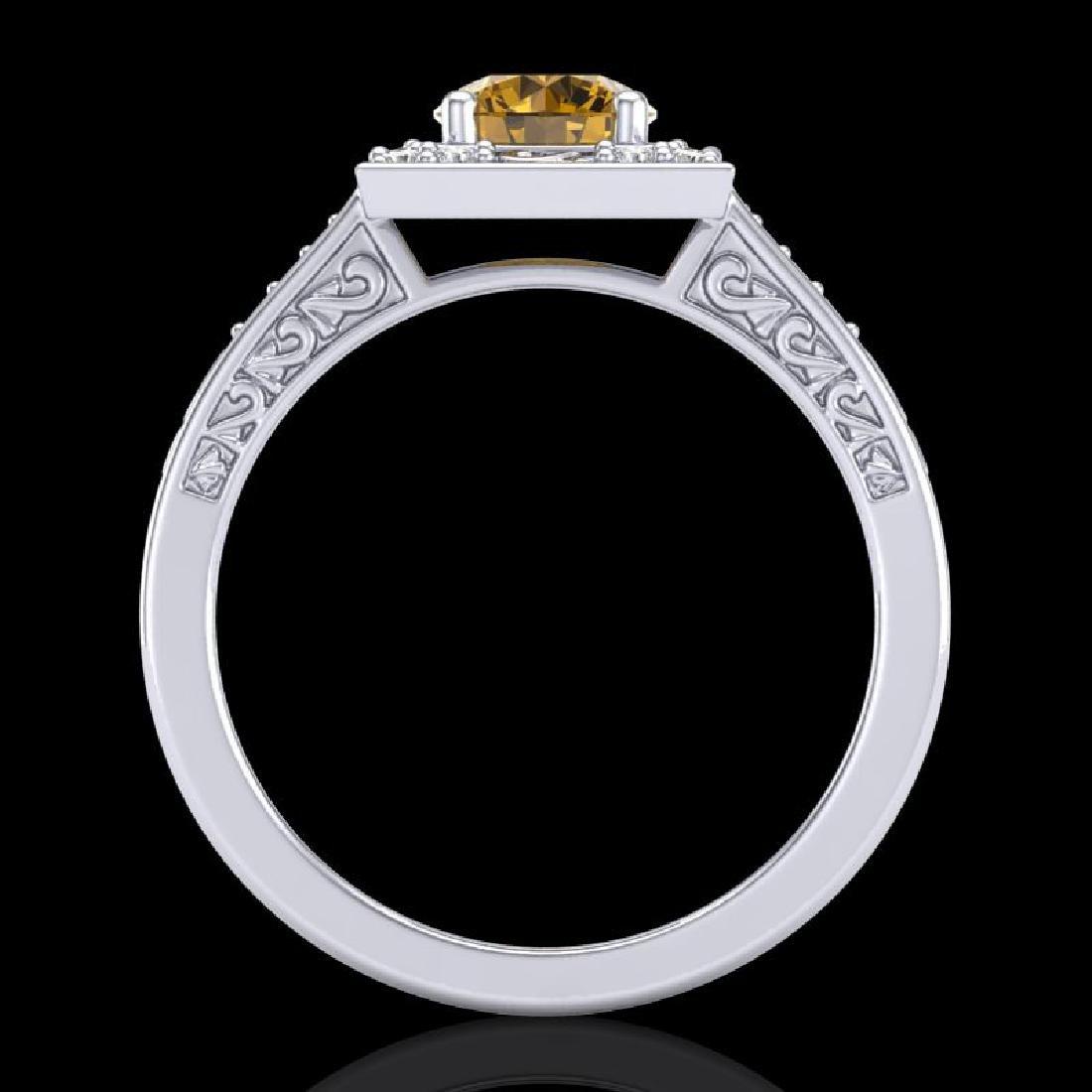 1.1 CTW Intense Fancy Yellow Diamond Engagement Art - 3