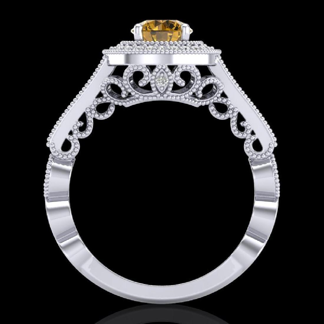 1.12 CTW Intense Fancy Yellow Diamond Engagement Art - 3