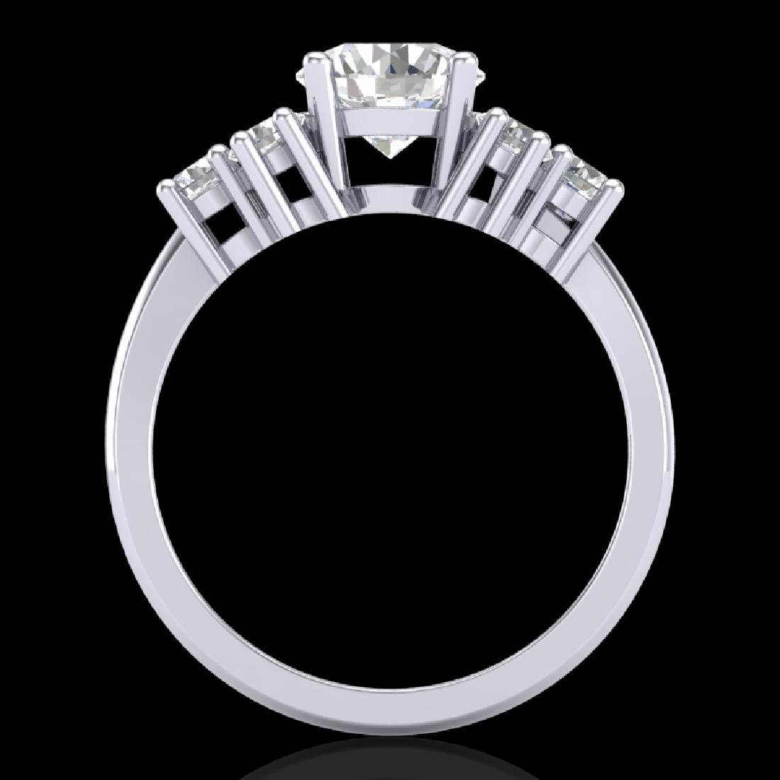 2.1 CTW VS/SI Diamond Solitaire Ring 18K White Gold
