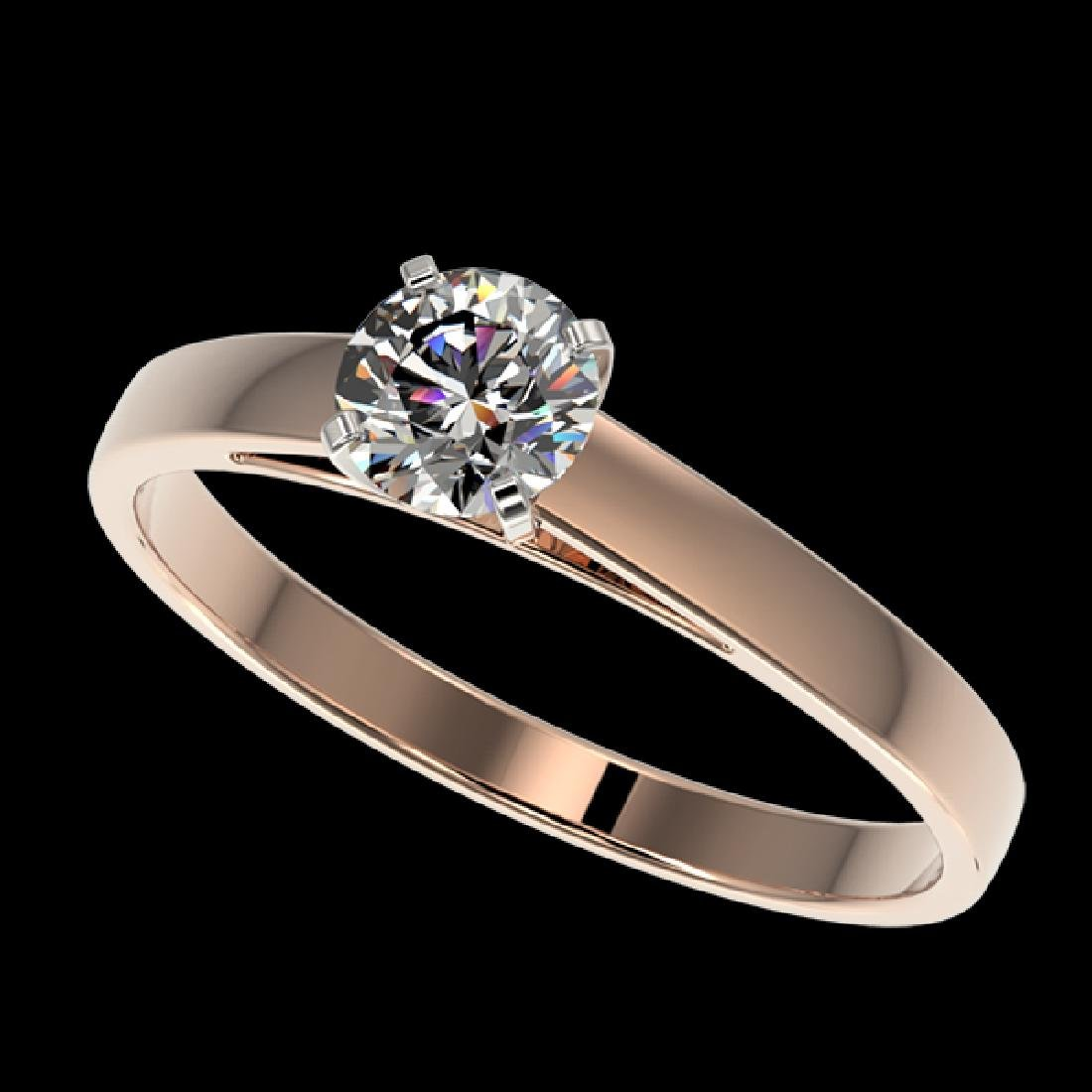 0.50 CTW Certified H-SI/I Quality Diamond Solitaire