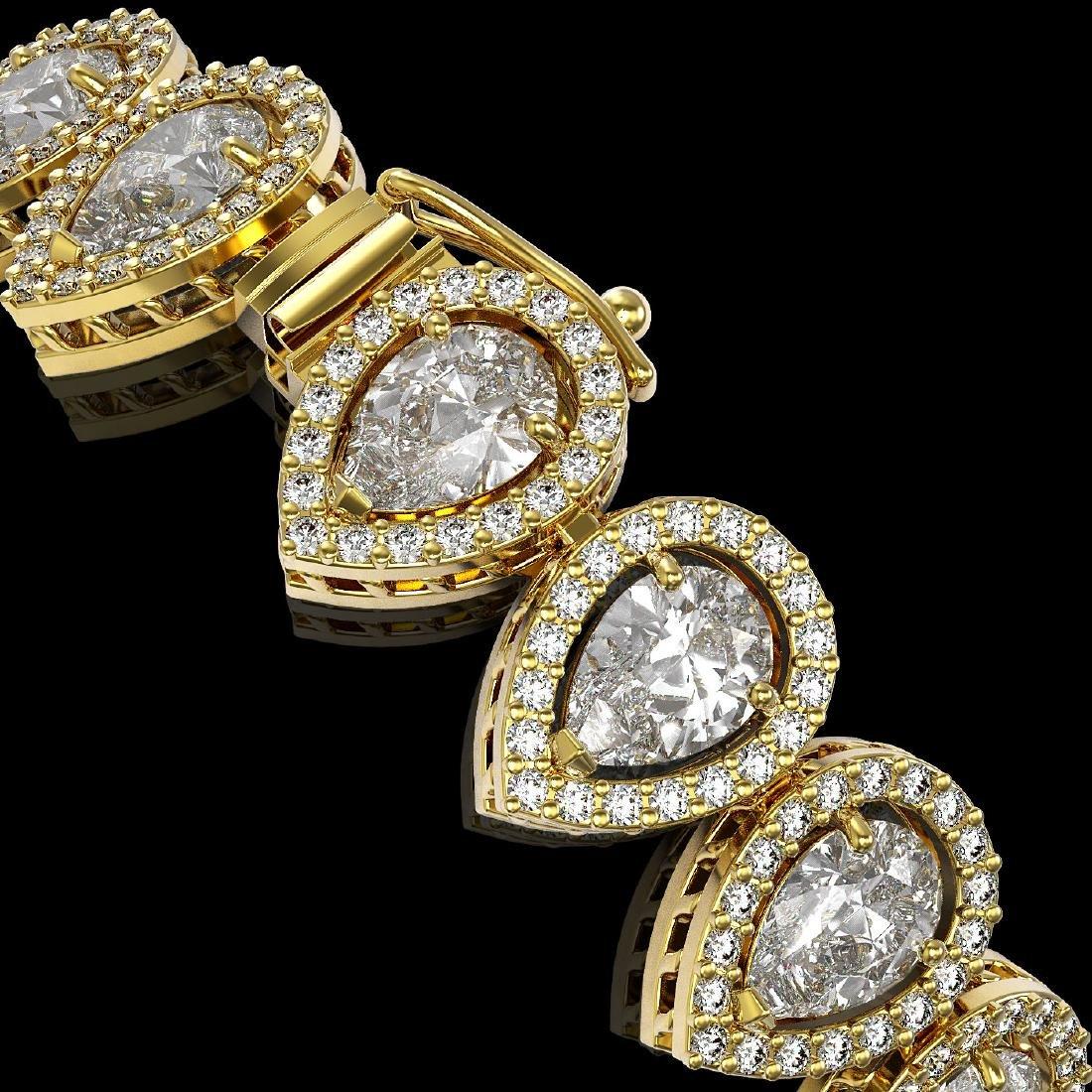 15.85 CTW Pear Diamond Designer Bracelet 18K Yellow - 3