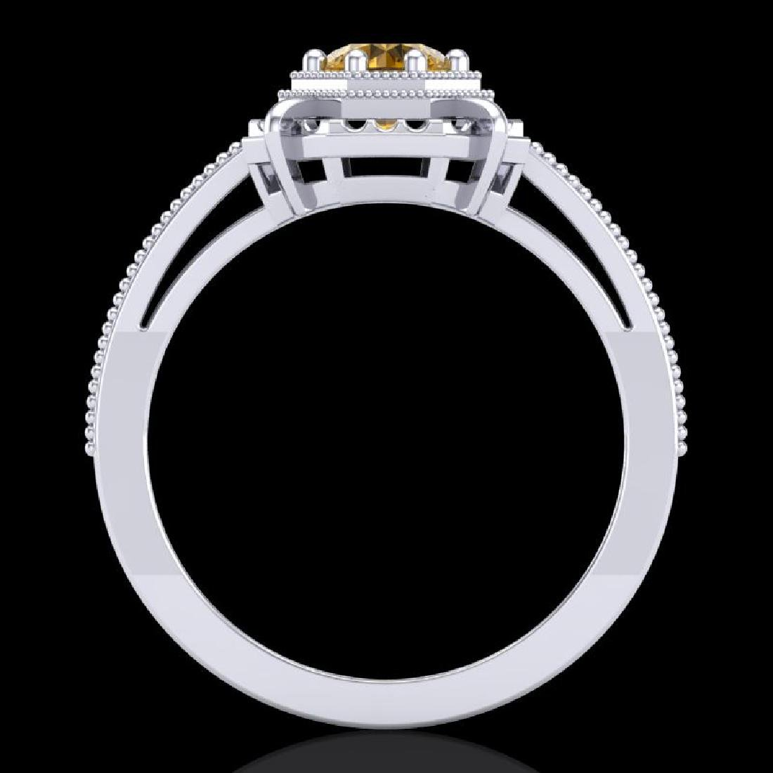 0.53 CTW Intense Fancy Yellow Diamond Engagement Art - 3