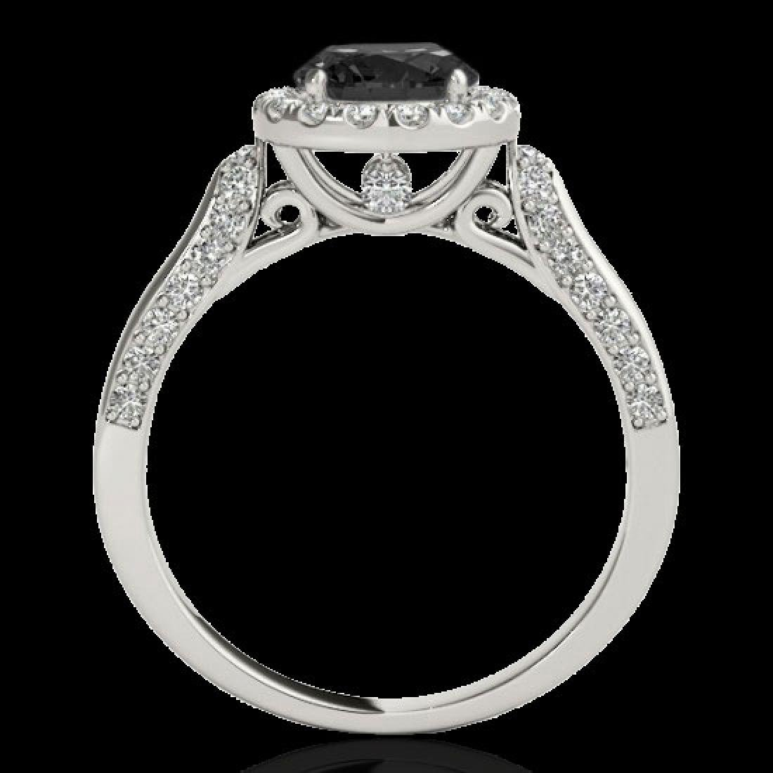 2.15 CTW Certified VS Black Diamond Solitaire Halo Ring - 2