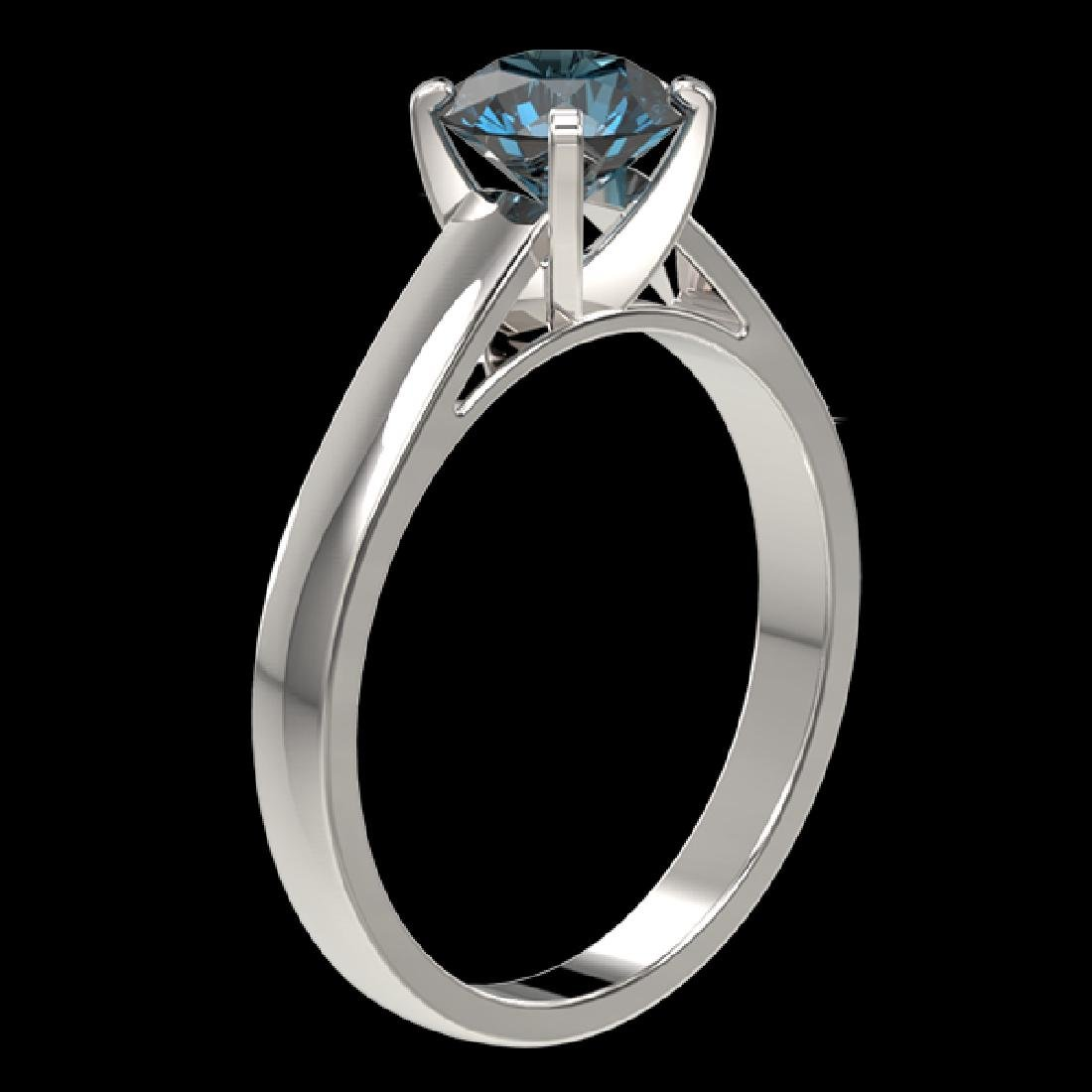 1.25 CTW Certified Intense Blue SI Diamond Solitaire - 3