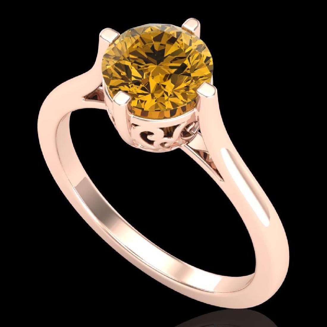 1.25 CTW Intense Fancy Yellow Diamond Engagement Art