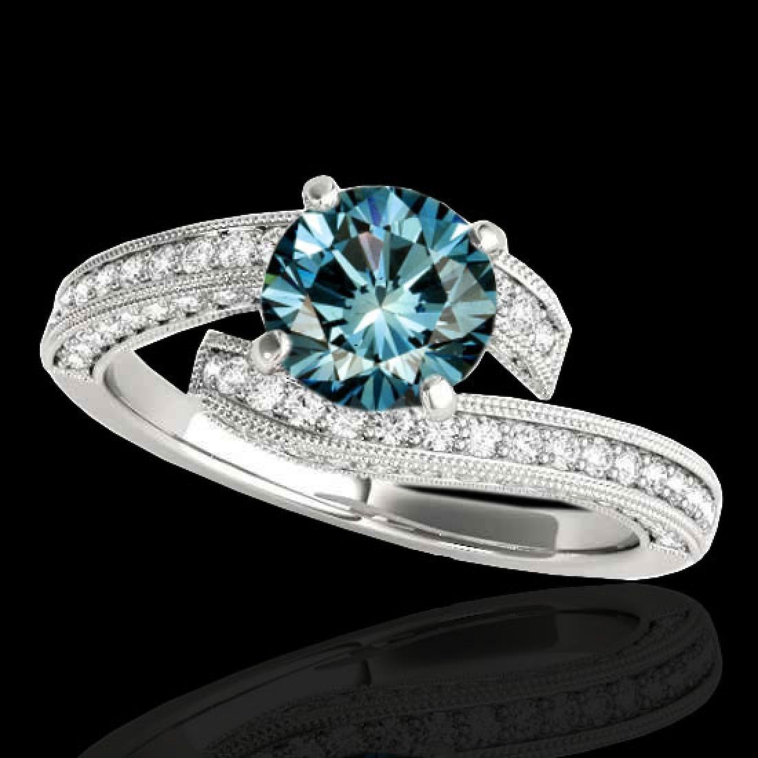 1.75 CTW SI Certified Fancy Blue Diamond Bypass