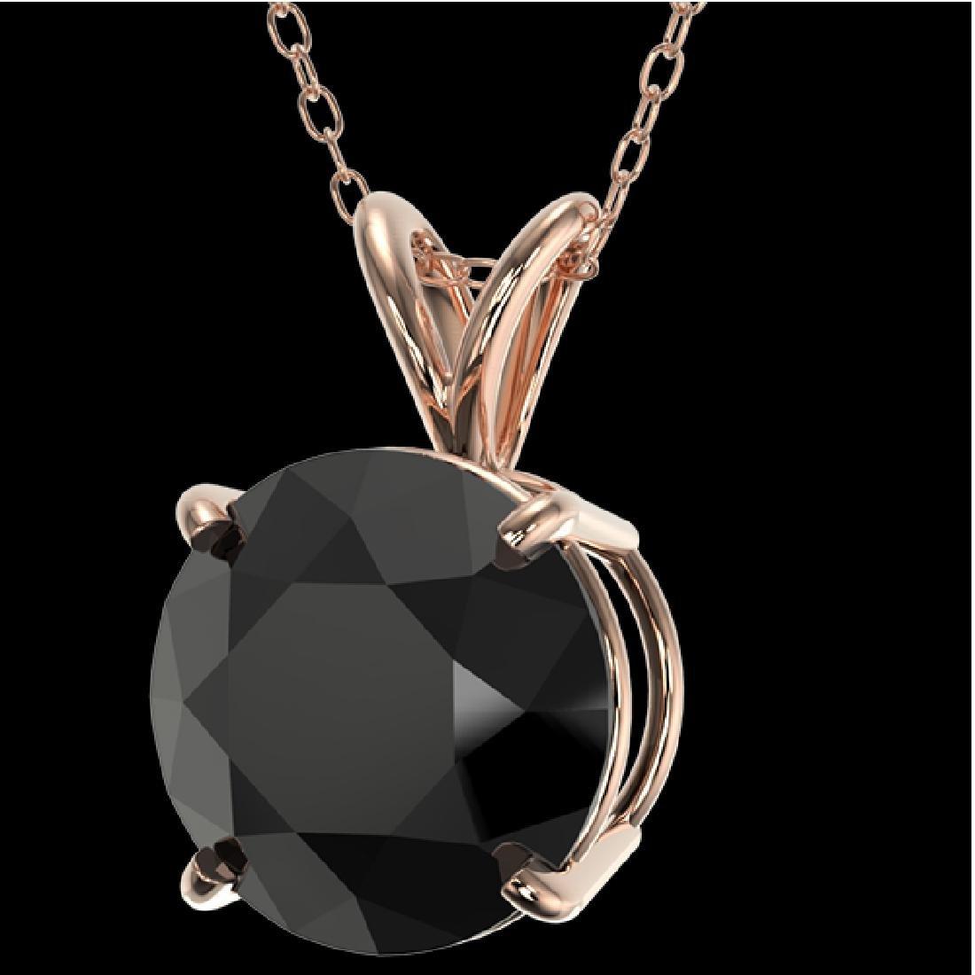 2.58 CTW Fancy Black VS Diamond Solitaire Necklace 10K - 2