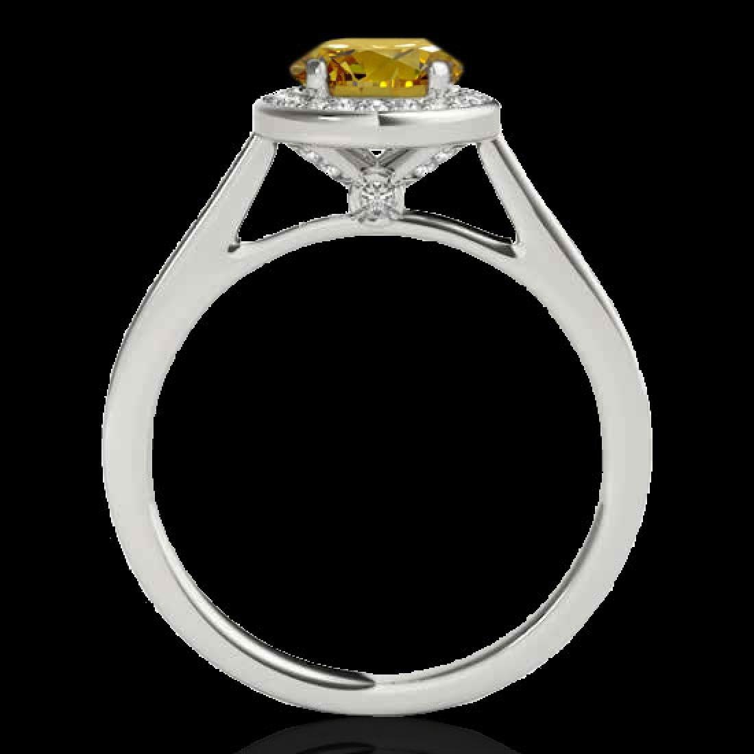 1.33 CTW Certified SI/I Fancy Intense Yellow Diamond - 2