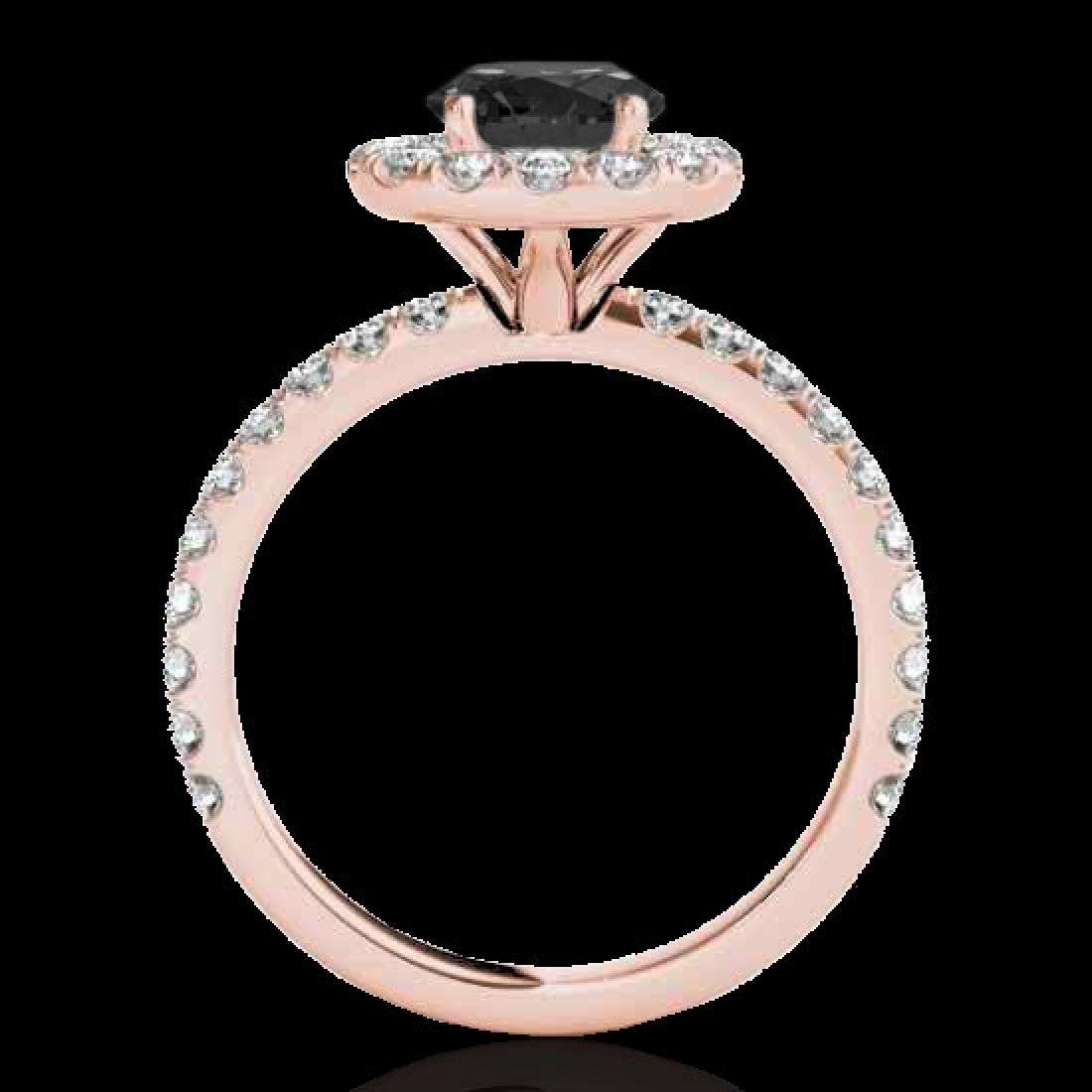 1.75 CTW Certified VS Black Diamond Solitaire Halo Ring - 2