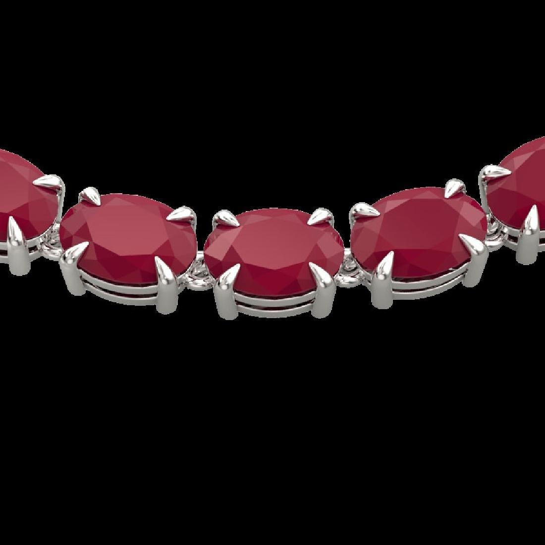 68 CTW Ruby Eternity Designer Inspired Tennis Necklace