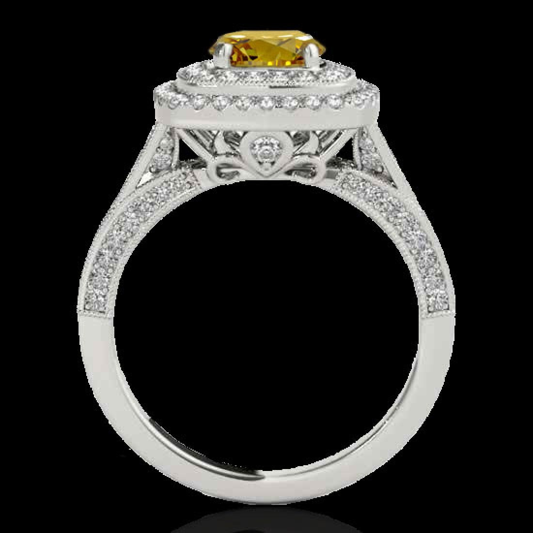 2 CTW Certified SI/I Fancy Intense Yellow Diamond - 2
