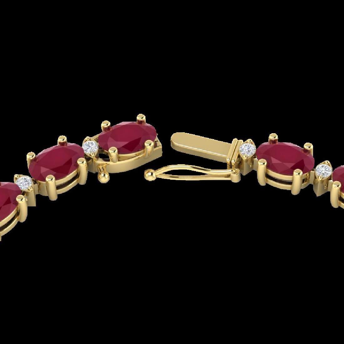 35 CTW Ruby & VS/SI Diamond Eternity Tennis Necklace