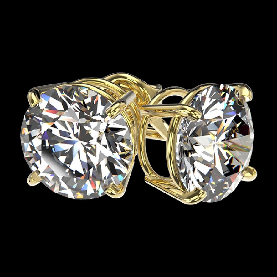 3 CTW Certified H-I Quality Diamond Solitaire Stud - 3