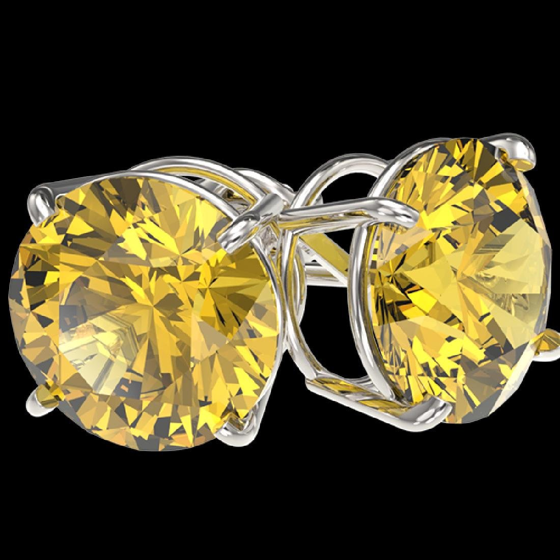 5 CTW Certified Intense Yellow SI Diamond Solitaire - 3