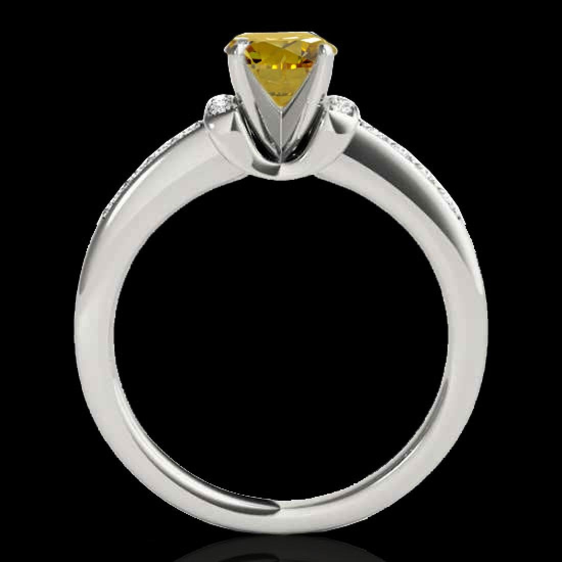 1.11 CTW Certified Si Fancy Yellow Diamond Solitaire - 2