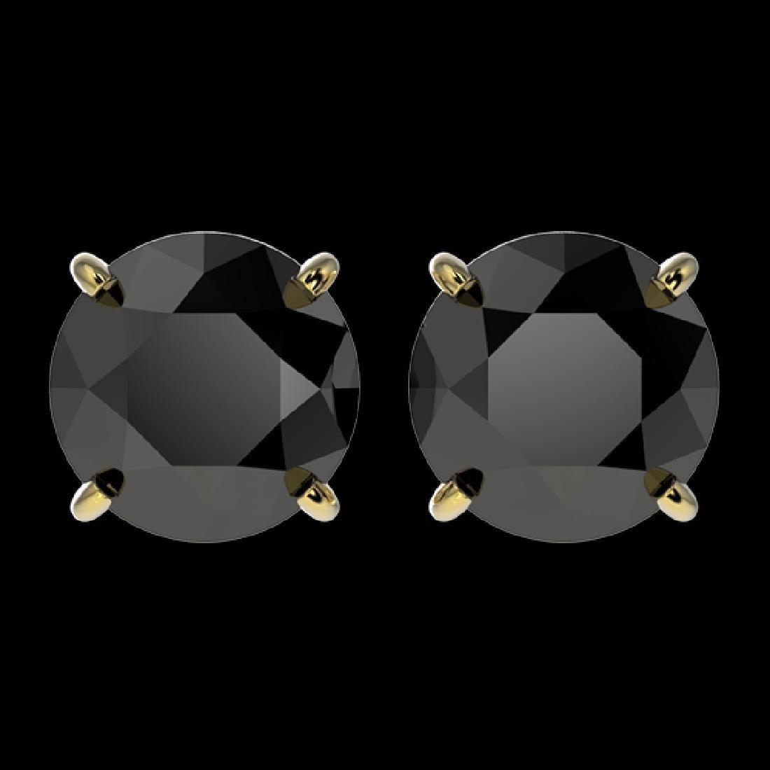 2.60 CTW Fancy Black VS Diamond Solitaire Stud Earrings