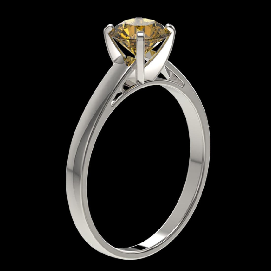 1.02 CTW Certified Intense Yellow SI Diamond Solitaire - 2