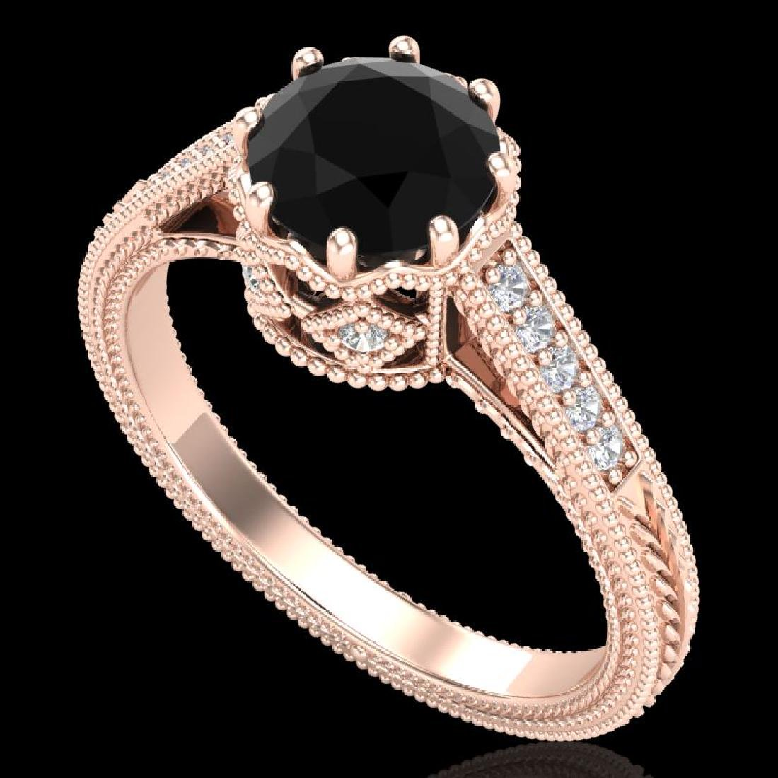 1.25 CTW Fancy Black Diamond Solitaire Engagement Art