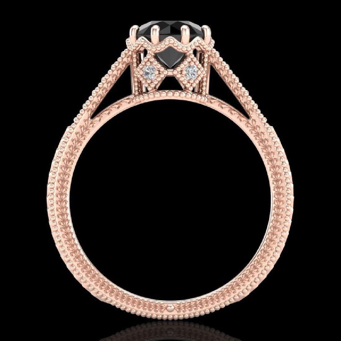 1.25 CTW Fancy Black Diamond Solitaire Engagement Art - 3