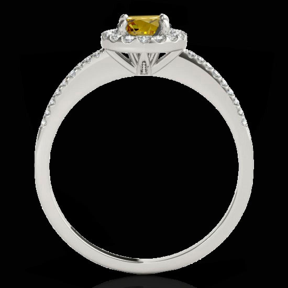 1.2 CTW Certified SI/I Fancy Intense Yellow Diamond - 2