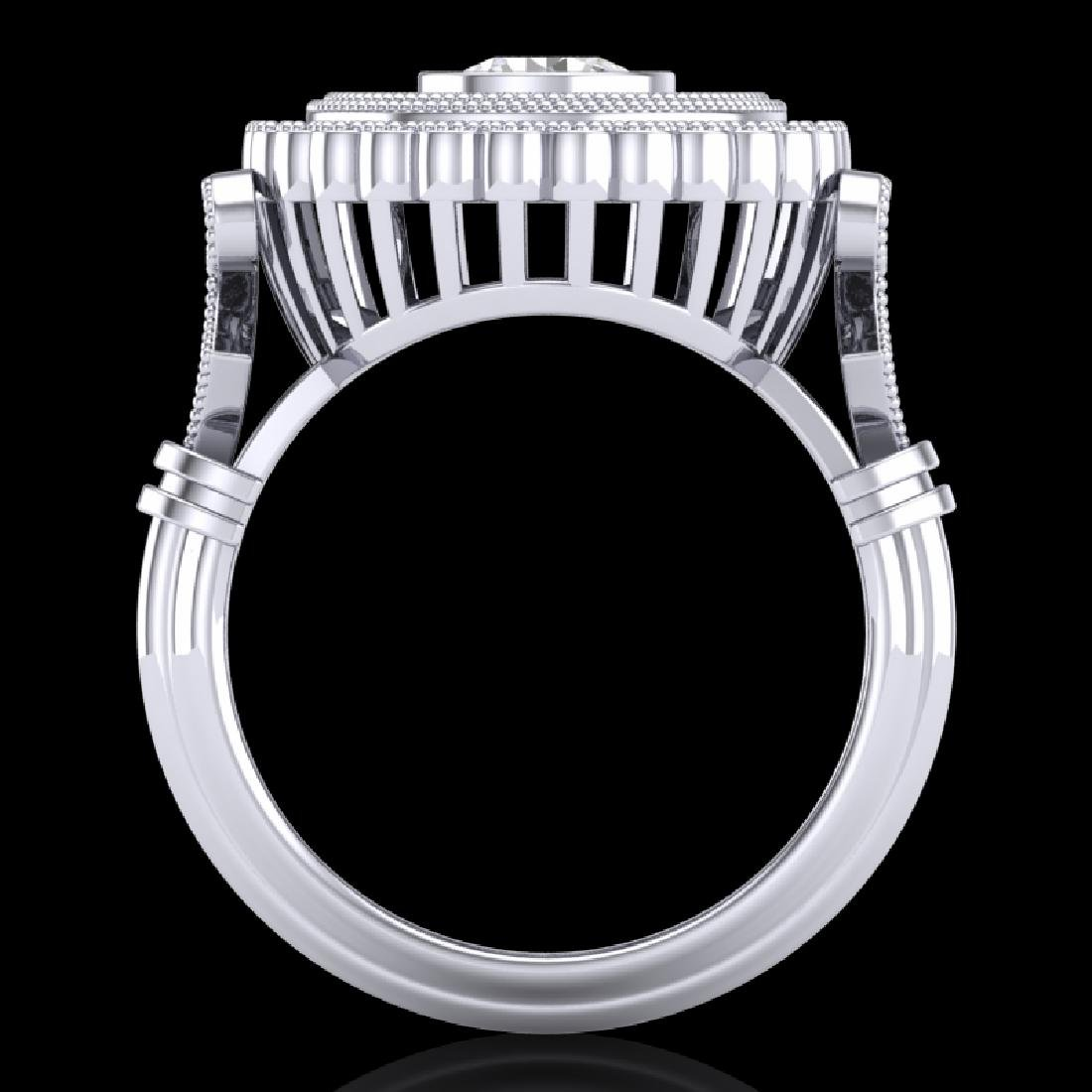 2.03 CTW VS/SI Diamond Solitaire Art Deco Ring 18K