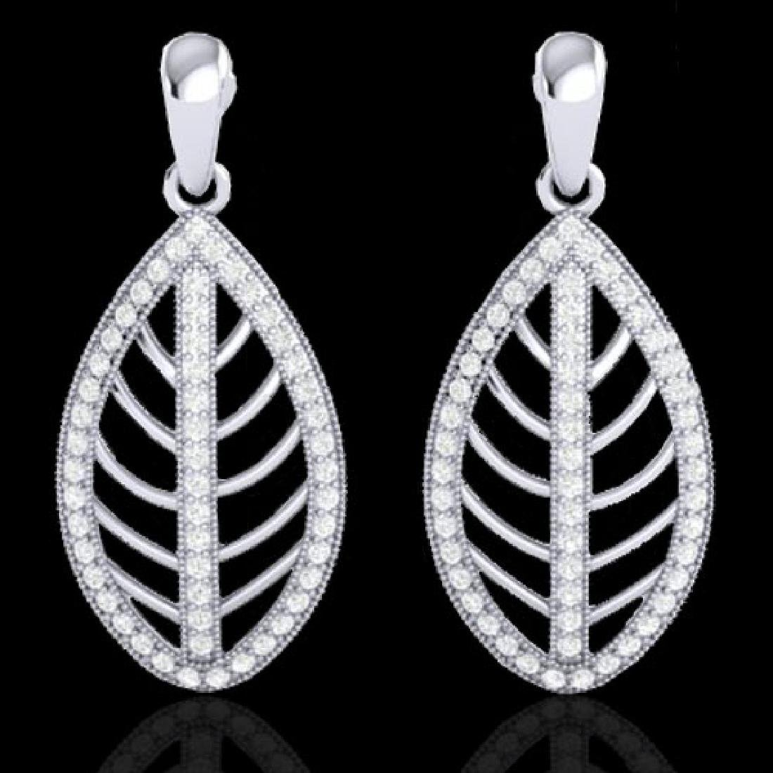 2 CTW Micro Pave VS/SI Diamond Designer Earrings 18K