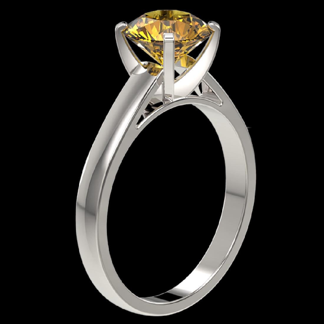 2 CTW Certified Intense Yellow SI Diamond Solitaire - 3