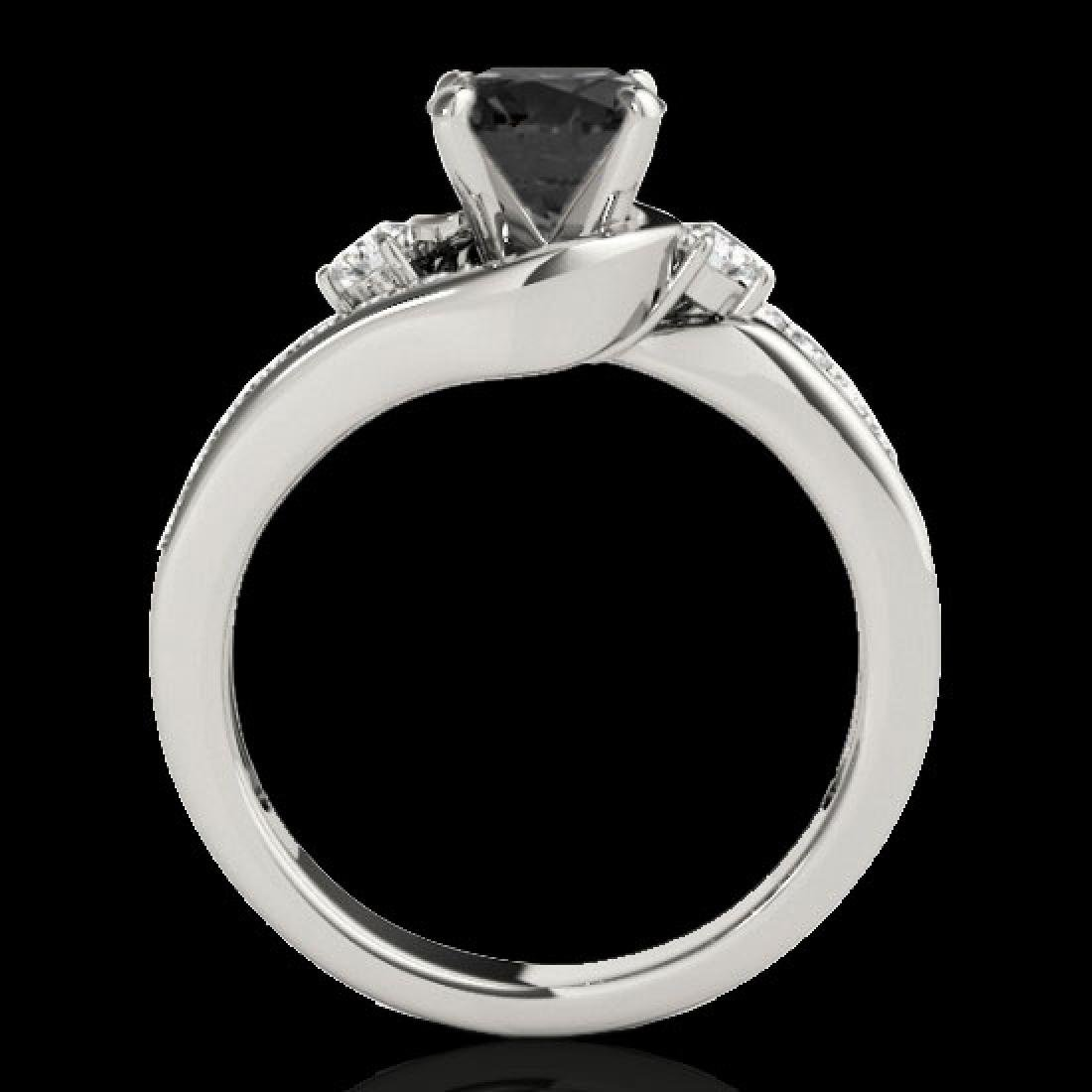 1.5 CTW Certified VS Black Diamond Bypass Solitaire - 2