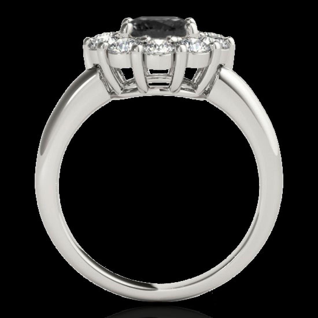 2.09 CTW Certified VS Black Diamond Solitaire Halo Ring - 2