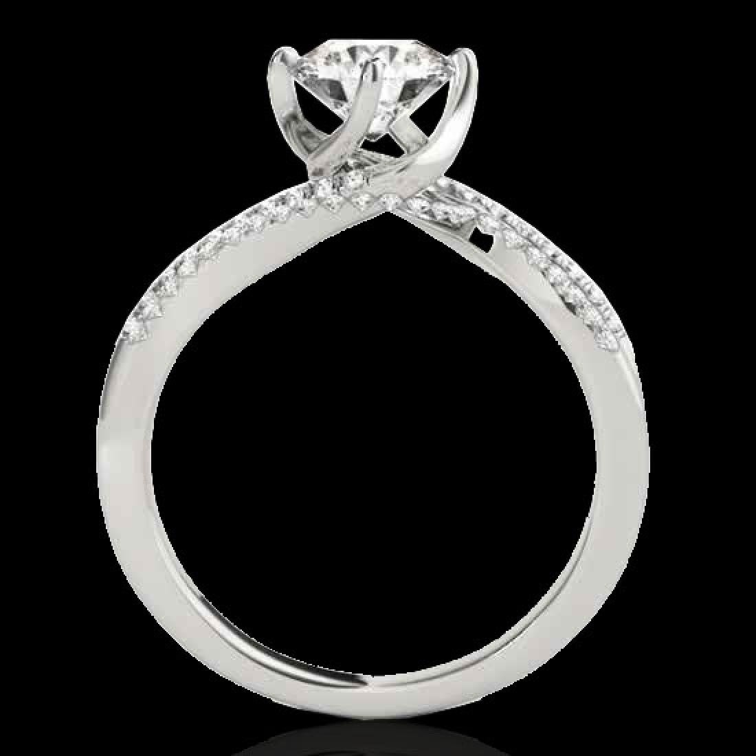 1.2 CTW H-SI/I Certified Diamond Bypass Solitaire Ring - 2