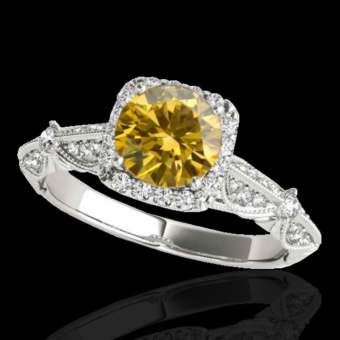 1.36 CTW Certified SI/I Fancy Intense Yellow Diamond