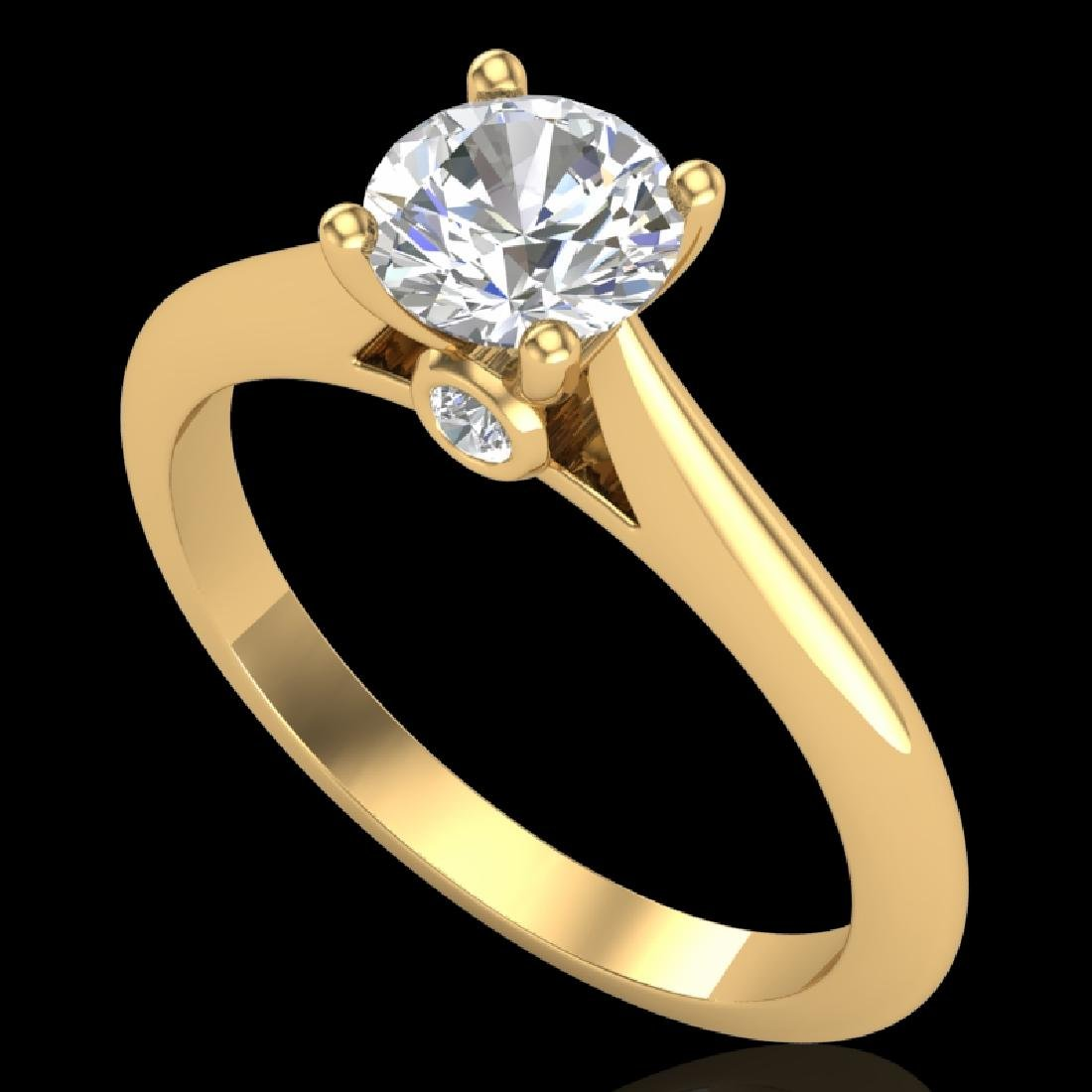 0.83 CTW VS/SI Diamond Solitaire Art Deco Ring 18K