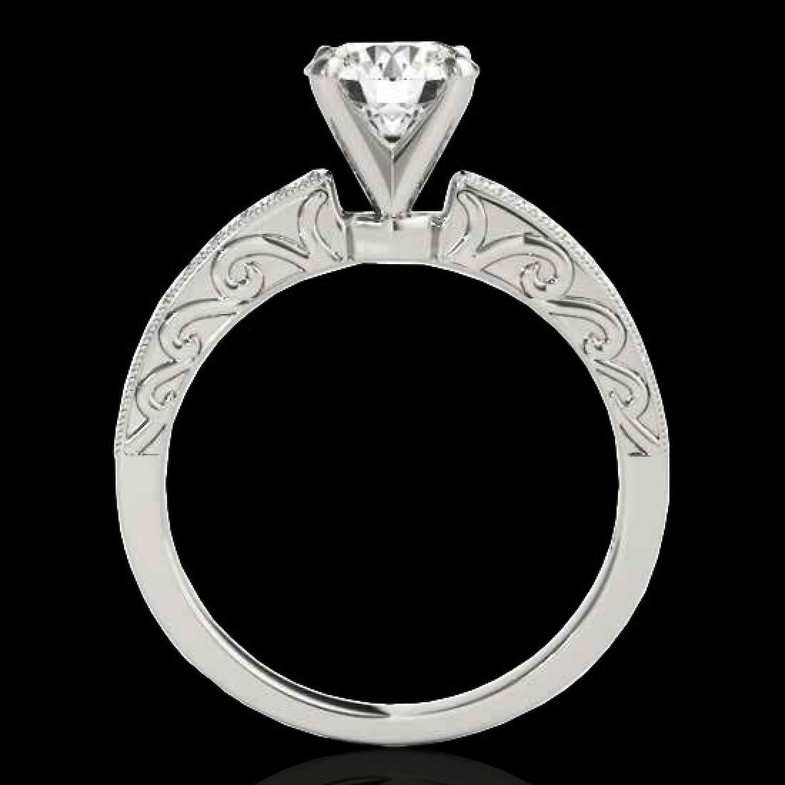 1.18 CTW H-SI/I Certified Diamond Solitaire Antique - 2