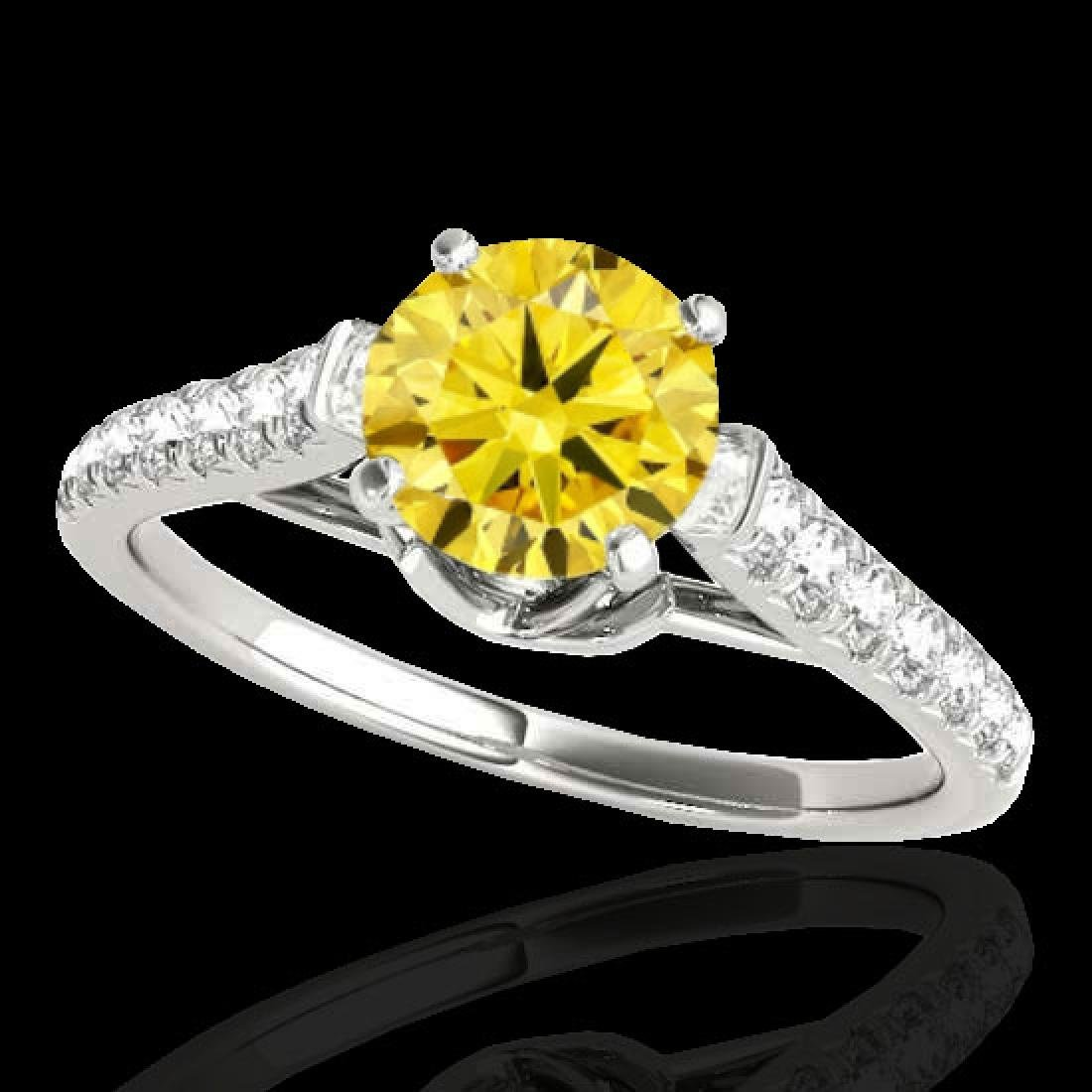 1.46 CTW Certified SI/I Fancy Intense Yellow Diamond