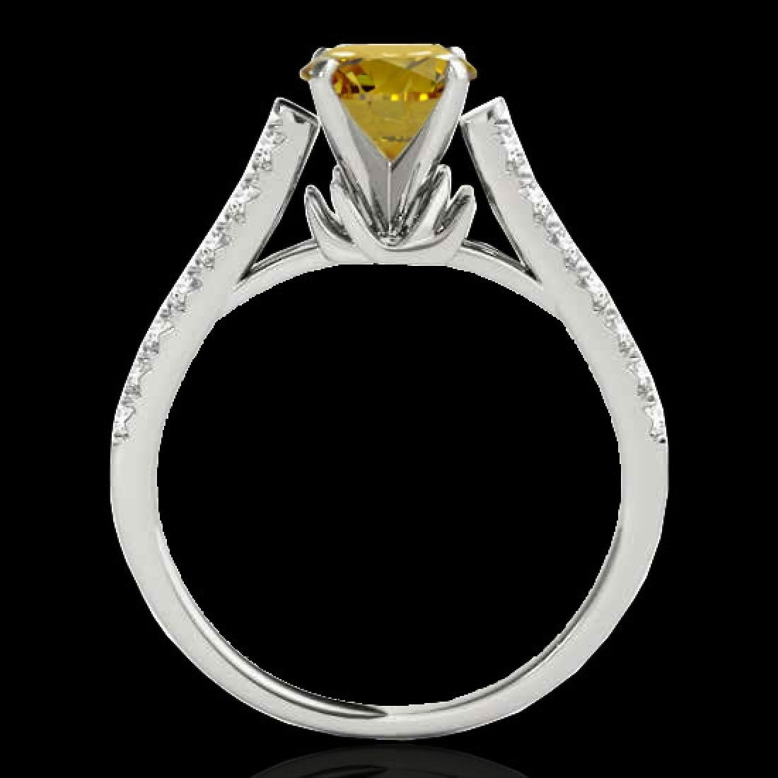 1.46 CTW Certified SI/I Fancy Intense Yellow Diamond - 2