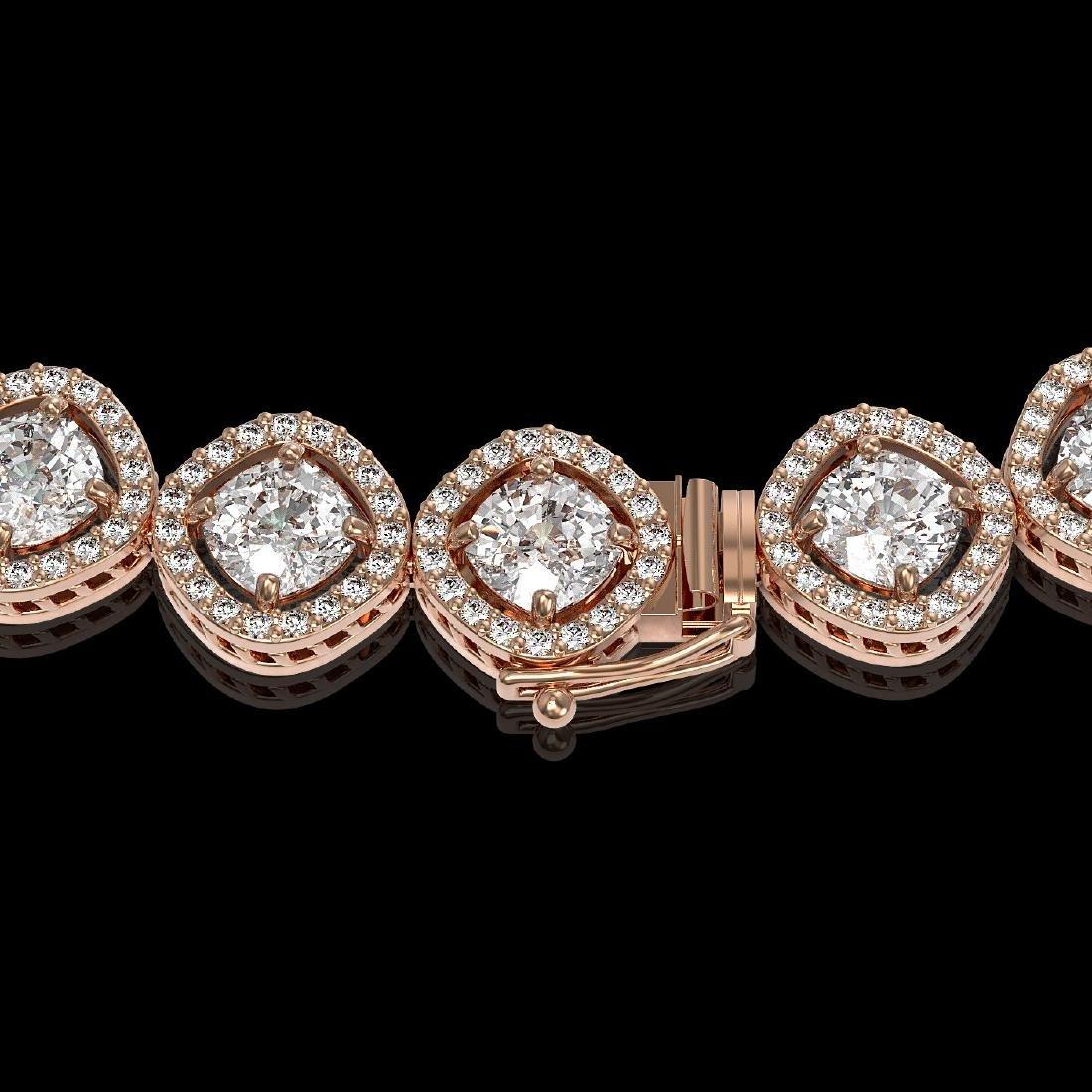 29.37 CTW Cushion Cut Diamond Designer Necklace 18K - 3